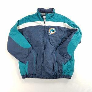 Vintage NFL Miami Dolphins Bomber Jacket Coat